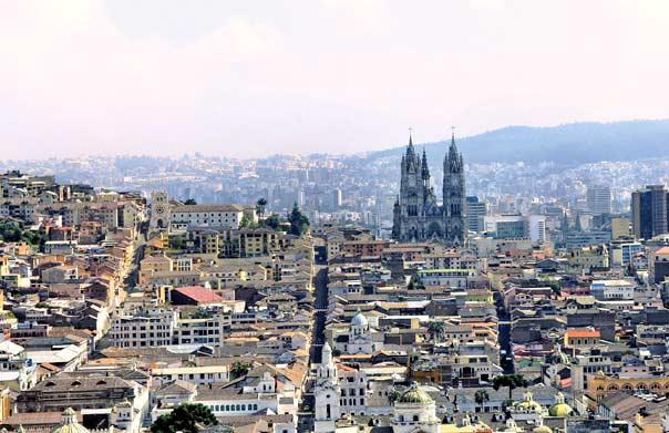 Vista Panorámica de Quito-Ecuador