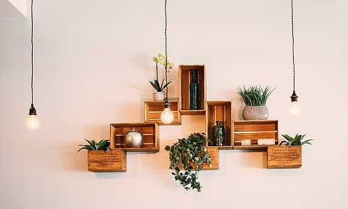 utilice los rincones de la casa para poner algo verde